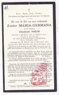 DP EZ Elisabeth Noëth - Zr. Germana ° Mechelen 1851 † Klooster Huldenberg 1922 - Devotion Images