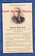 Faire Part De Décés - NANCY - Monsieur Georges ELIE Décédé Le 1er Juin 1937 - Librairie H. Drioton - Todesanzeige
