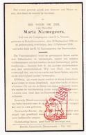 DP Marie Niemegeers ° Scheldewindeke Oosterzele 1866 † 1936 - Devotion Images