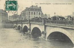 03-76 CPA   MONTLUCON Le Cher Un Jour De Crue       Animation Belle Carte - Montlucon