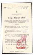 DP Filip Neetens ° Sint-Pieters-Leeuw 1866 † 1938 - Devotion Images