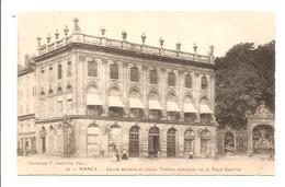 Nancy. Cercle Militaire Et Ancien Théâtre Municipal. F. Gedovius N°19. - Nancy