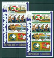 Burundi 1974 UPU Centenary 2x Sheetlets MUH Lot56322 - Burundi