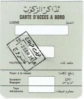 Carte Acces A Bord/Booarding Pass. A Identifier. 2/9/1975 - Instapkaart