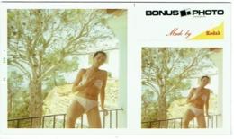 Foto/ Photo Carrée Kodak + Bonus. Pin Up En Maillot. 1970. - Pin-Ups