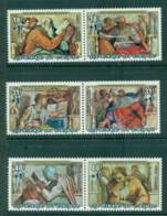 Burundi 1975 Paintings From Sistine Chapel Air Surch (3pr) MUH Lot41561 - Burundi