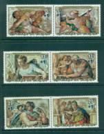 Burundi 1975 Paintings From Sistine Chapel Surch (3pr) MUH Lot41562 - Burundi