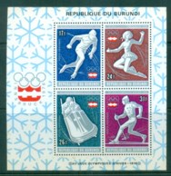 Burundi 1976 Innsbruck Winter Olympics MS MUH Lot81700 - Burundi