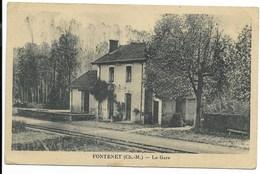 17-FONTENET-La Gare...1950  (coin Pli) - France
