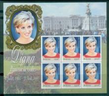 Burundi 1998 Princess Diana In Memoriam MS MUH Lot81998 - Burundi