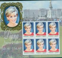 Burundi 1998 Princess Diana In Memoriam, Buckinhgam Palace MS MUH - Burundi