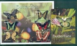 Burundi 2004 Butterflies 2xMS MUH - Burundi