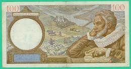100 Francs -  France -  Type Sully - N° C.28596  986  NM.12=2=1942.NM. - TB+ - - 1871-1952 Anciens Francs Circulés Au XXème
