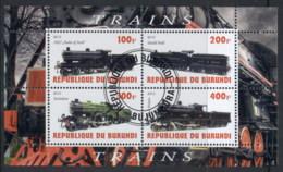 Burundi 2010 Steam Trains, Locomotives MS CTO - Burundi