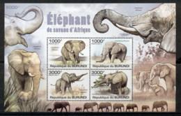 Burundi 2011 African Wildlife Elephant MS MUH - Burundi
