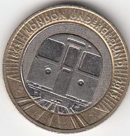 Great Britain UK £2 Two Pound Coin Underground Train - Circulated - 1971-… : Monedas Decimales