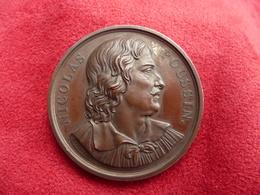 Medaille Ancienne Cuivre 1851 Nicolas Poussin Les Andelys 27 Eure Par Depaulis - Other