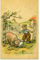 Illustrateur Germaine BOURET - Mais, Tu Bouffes Comme Un Cochon. - Bouret, Germaine