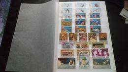 D046 LOT FEUILLES TIMBRES EMIRATS ARABES NEUFS / OB A TRIER  COTE++ POIDS 0.550KG DÉPART 10€ - Stamps