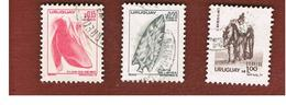 URUGUAY  - SG 1641.1646   - 1976 3 STAMPS OF THE CURRENT SERIE    -  USED° - Uruguay