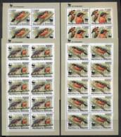 Burundi 2011 WWF Papyrus Gonoale Birds 4x Sheetlet MUH - Burundi