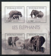Burundi 2012 African Wildlife Elephant MS MUH - Burundi
