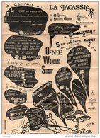 """06 - CANNES . """" LA JACASSIERRE """" DE G. LÉAUTIER PAR PIERRETTE DUPOYET . """" CHARLESTON """" CANNES - Réf. N°11015 - - Programmi"""