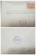 O) 1939 HONDURAS, VIEW OF TEGUCIGALPA- OVERPRINTED HABILITADO 1935-1938 ON 6c - SCT O92, CAMARA DE COMERCIO. FROM TEGUCI - Honduras