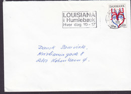 Denmark Slogan Flamme 'Louisiana' HUMLEBÆK 1986 Cover Brief 4.10 Kr. WHO Stamp - Briefe U. Dokumente