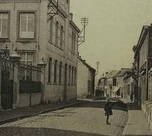Dour Rue Du Roi Albert Et Couvent  (Roi Albert Ier 1915 3x2C + 1x10c 136 Et 138) - 1915-1920 Albert I