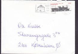 Denmark Slogan Flamme 'Kastellet' RØNNE 1991 Cover Brief 3.50 Kr. Train Zug Litra A 1882 Stamp - Briefe U. Dokumente