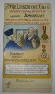 Carnet/calendrier 1912 - ADVOCAAT & KNICKEBEIN - A. Van Langenhove-Gilis, 8 Petite Rue Au Beurre - Bruxelles - AVOCAT - Alcohols