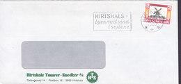 Denmark HIRTSHALS TØMRER- SNEDKER (Carpenter) Slogan Flamme HIRTSHALS 1989 Cover Brief Mill Moulin Mühle - Briefe U. Dokumente