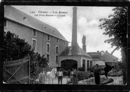 CPA  PHOTO GLACEE ?    86  VIENNE---LES ARMES--LES TROIS MOULINS---L'USINE--1908 - France