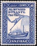 ZANZIBAR, PROTETTORATO BRITANNICO, BRITISH PROTECTORATE, COMMEMORATIVO, AL BUSAID, 1944, NUOVI (MLH*), YT 195  Scott 21 - Zanzibar (...-1963)