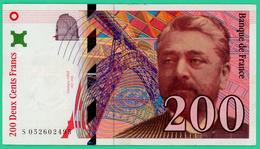 200 Francs -  France -  Type  Eiffel - N° S052602495 1997 - TB+ - - 1992-2000 Ultima Gama