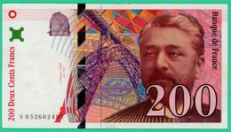 200 Francs -  France -  Type  Eiffel - N° S052602495 1997 - TB+ - - 1992-2000 Dernière Gamme
