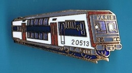 1 PIN'S //  ** S.N.C.F. / TRAIN N° 20513 // PARIS ** . (20500 © 1988) - TGV