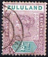 ZULULAND, SUD AFRICA, COLONIA BRITANNICA, BRITISH COLONY, COMMEMORATIVO, REGINA VITTORIA, 1894,  USATI,  YT 14 Scott 15 - Zululand (1888-1902)