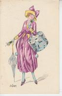 Femme Au Chapeau - Mode - Vetements Ombrelle ( France  )  PRIX FIXE - Illustratori & Fotografie
