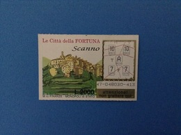 GRATTA E VINCI USATO L. 2000 LE CITTÀ DELLA FORTUNA SCANNO - Lottery Tickets