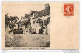 D87  GLANDON  Hôtel De La Gare - Bonnet     ............. .  ( Ref J847) - France