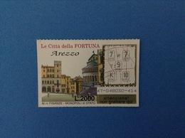 GRATTA E VINCI USATO L. 2000 LE CITTÀ DELLA FORTUNA AREZZO - Lottery Tickets