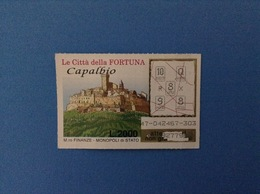 GRATTA E VINCI USATO L. 2000 LE CITTÀ DELLA FORTUNA CAPALBIO - Lottery Tickets