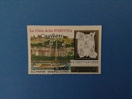 GRATTA E VINCI USATO L. 2000 LE CITTÀ DELLA FORTUNA CAGLIARI - Lottery Tickets