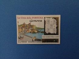 GRATTA E VINCI USATO L. 2000 LE CITTÀ DELLA FORTUNA GENOVA - Lottery Tickets