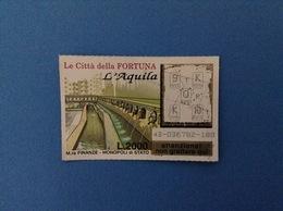 GRATTA E VINCI USATO L. 2000 LE CITTÀ DELLA FORTUNA L'AQUILA - Lottery Tickets