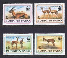 WWF - BURKINA FASO  - ANTELOPE -  1993 -  4  V. -MNH  - - W.W.F.