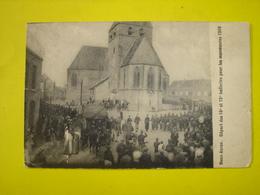 CPA - DEUX ACREN ( LESSINES ATH ) - DEPART DES 18 ET 19EME BATTERIES POUR LES MANOEUVRES 1909 - Lessines