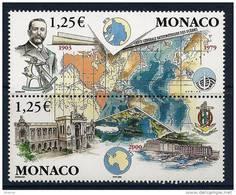 "Monaco YT 2391 & 2392 Paire "" 100 Ans De La GEBCO "" 2003 Neuf** - Unused Stamps"